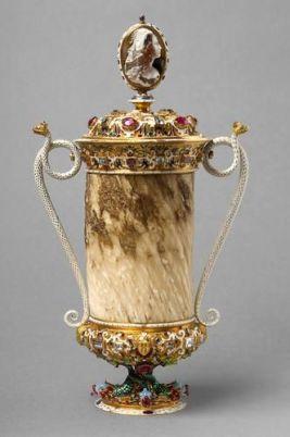 A narwhal-tusk cup, Jan Vermeyen (pre1559). Kunsthistorisches-Museum-Wien