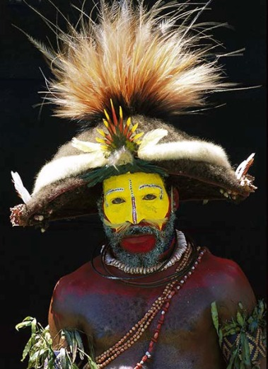 Huliman wearing his plumage