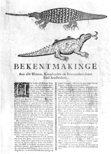 White Elephant Menagerie in Amsterdam in the 1700s to see a troublesome 'nigomsen duyvel'