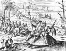 De Bry & De Bry, 1601, The Dutch on Mauritius in 1598