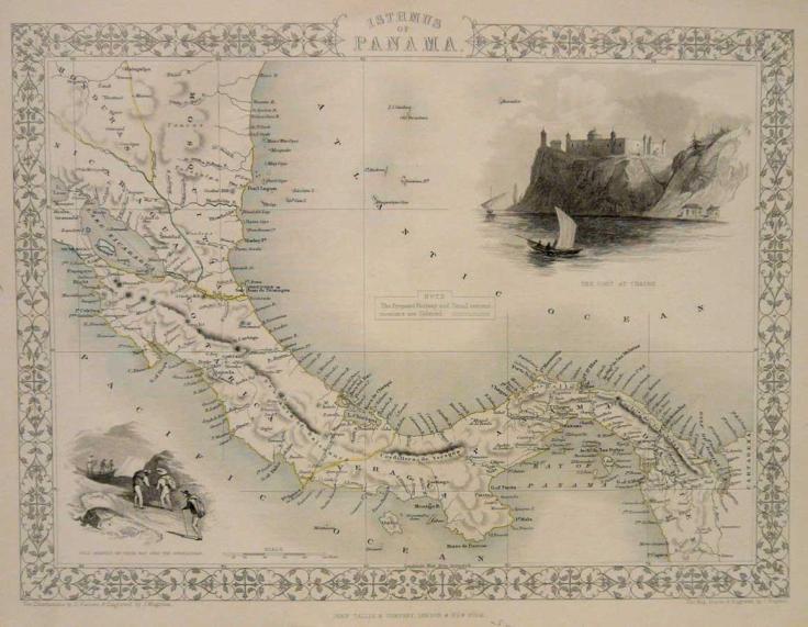 Isthmus of Panama map